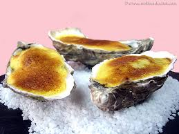 Gratineed oysters