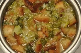 Soupe aux legumes with Lard.