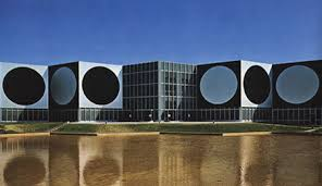 "The building ""Foundation Vasarely"""