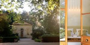 The former Chapel at Le chateau des Alpilles converted farmhouses with very cozy rooms