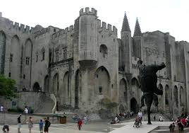 Avignon, the walled town.