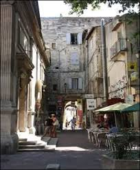 Narrow streets in Avignon.....