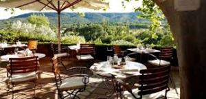 The dining room at La Bastide de Moustiers